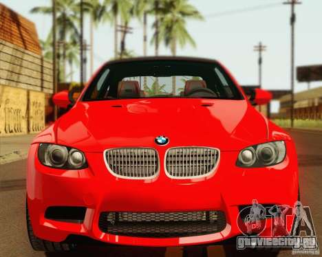 BMW M3 E92 v2.0 для GTA San Andreas вид сзади
