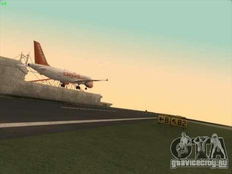Airbus A320-214 EasyJet для GTA San Andreas вид сзади