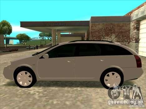 Nissan Primera Wagon для GTA San Andreas вид сзади слева