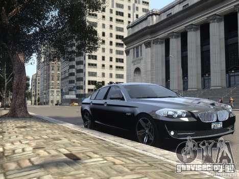 BMW 550i F10 для GTA 4 вид сбоку