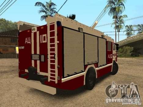 КамАЗ 43253 Розенбауер для GTA San Andreas вид сзади слева