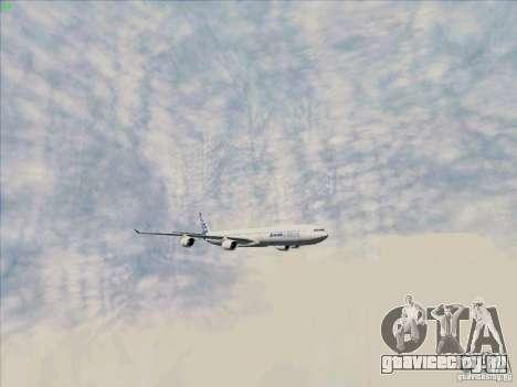 Airbus A-340-600 для GTA San Andreas вид сбоку