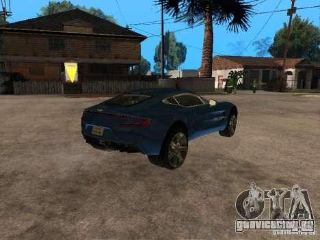 Aston Martin One77 для GTA San Andreas вид справа