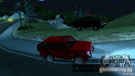 FBI Huntley 4x4 для GTA San Andreas вид сзади слева