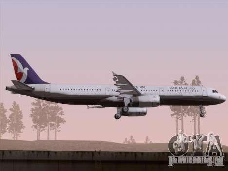 Airbus A321 Air Macau для GTA San Andreas вид сзади