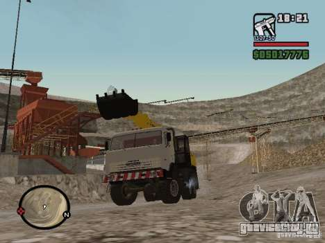 КамАЗ UDS для GTA San Andreas вид сзади слева