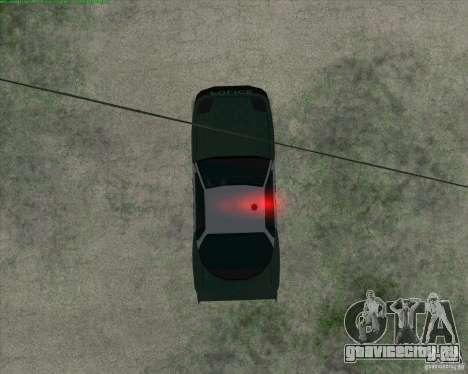 Supergt - Police S для GTA San Andreas вид сзади