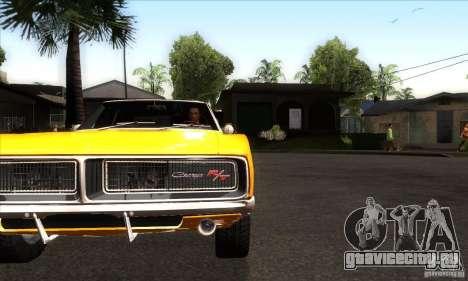 Dodge Charger RT 1969 для GTA San Andreas вид изнутри