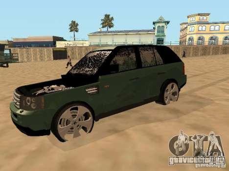 Land Rover Range Rover Sport для GTA San Andreas вид изнутри