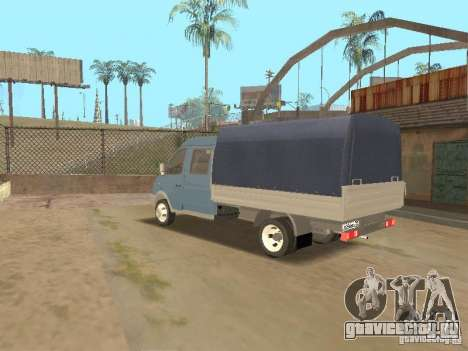 Газ 33023 Газель Фермер для GTA San Andreas вид сзади слева