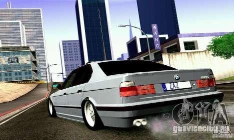 BMW E34 525i для GTA San Andreas вид слева