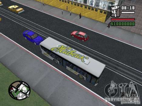 ЛАЗ ИнтерЛАЗ 12 для GTA San Andreas вид сзади слева