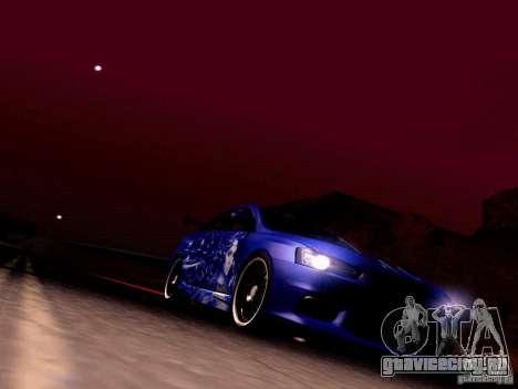 Mitsubishi Lancer EVO X Juiced2 HIN для GTA San Andreas вид сверху