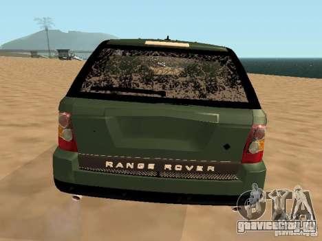 Land Rover Range Rover Sport для GTA San Andreas вид сверху