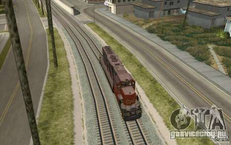 CN SD40 ZEBRA STRIPES для GTA San Andreas вид справа
