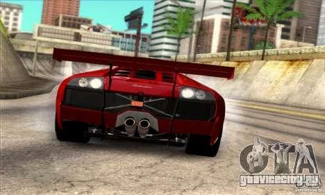 Lamborghini Murcielago R-SV GT1 для GTA San Andreas вид сзади слева