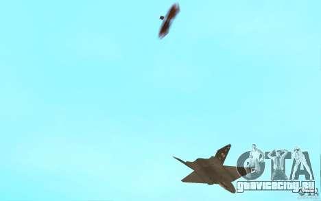 YF-23 для GTA San Andreas вид изнутри
