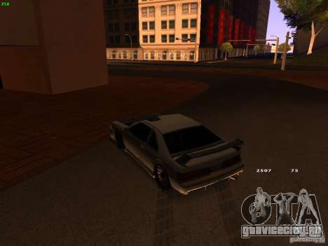 New Racing Style Fortune для GTA San Andreas вид сзади
