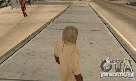 Длинные светлые волосы для GTA San Andreas второй скриншот