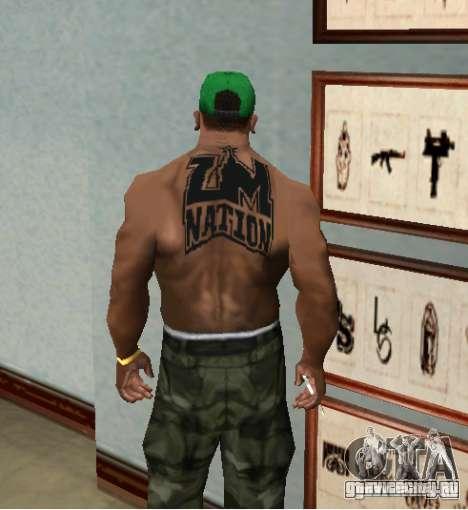 тату ZM NATION для GTA San Andreas