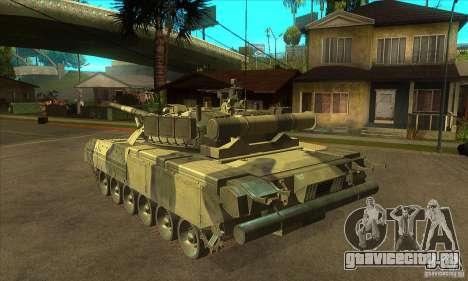 T-80U MBT для GTA San Andreas вид сзади слева