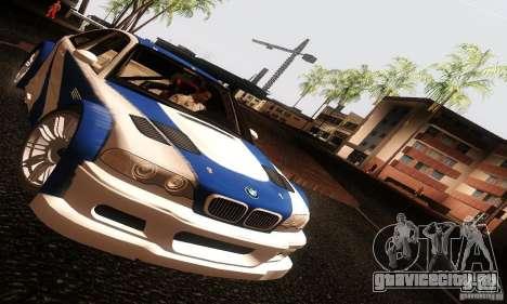 BMW M3 GTR v2.0 для GTA San Andreas вид справа