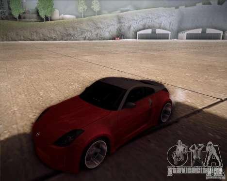 Nissan 350Z AdHoc для GTA San Andreas вид сзади