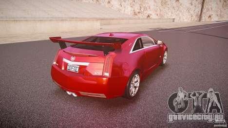 Cadillac CTS-V Coupe для GTA 4 вид сверху