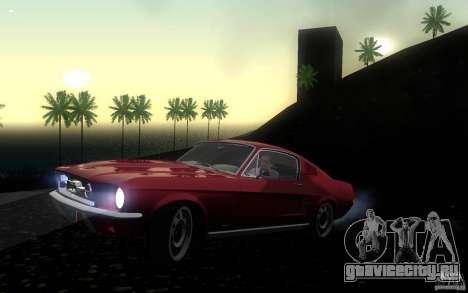 Ford Mustang 1967 American tuning для GTA San Andreas вид слева