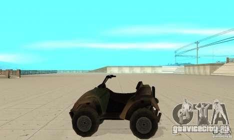 Квадроцикл из TimeShift для GTA San Andreas вид слева