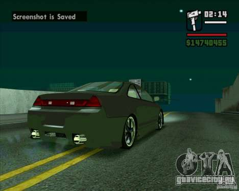 Honda Accord Tuning для GTA San Andreas вид сзади слева