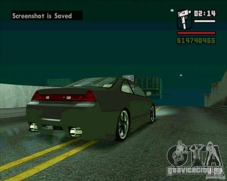 Honda Accord Tuning для GTA San Andreas вид сзади слева