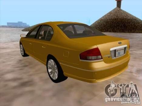 Ford Falcon Fairmont Ghia для GTA San Andreas вид снизу