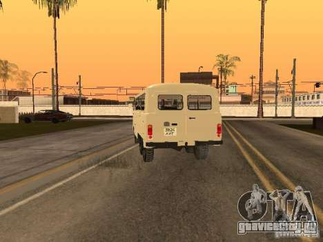 УАЗ 452К для GTA San Andreas вид сзади слева