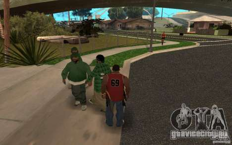 Skins Grove Street для GTA San Andreas