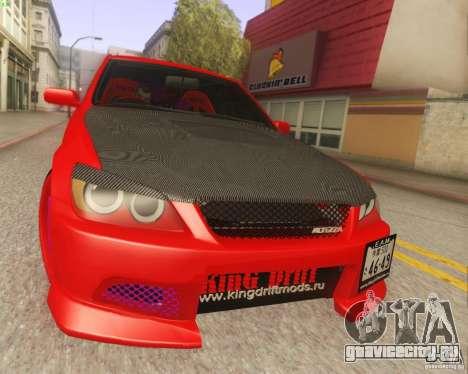 Toyota Altezza Drift Style v4.0 Final для GTA San Andreas вид сзади слева