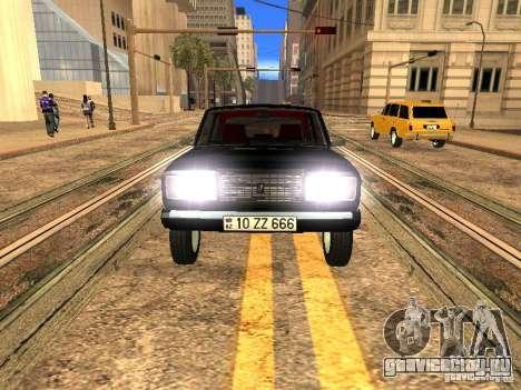 ВАЗ 2107 ZZ Style для GTA San Andreas вид сзади