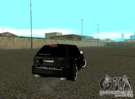 Land Rover Range Rover Sport Hamann для GTA San Andreas вид справа