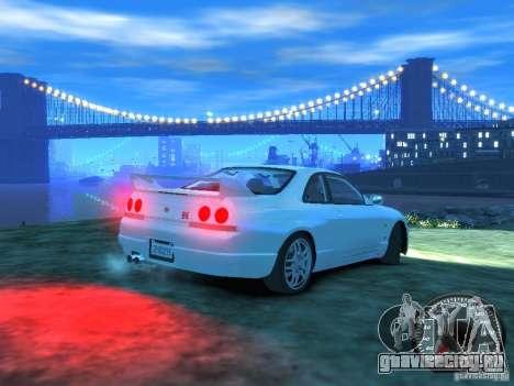 Nissan Skyline GT-R V-Spec (R33) 1997 для GTA 4 вид справа