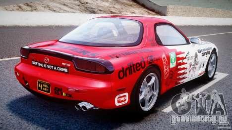 Mazda RX-7 1997 v1.0 [EPM] для GTA 4 вид сзади слева
