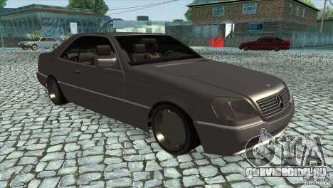 Mercedes Benz 600 Sec для GTA San Andreas вид сзади