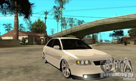 Audi A3 для GTA San Andreas вид сзади