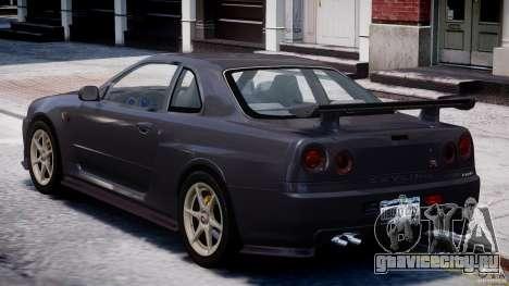 Nissan Skyline GT-R 34 V-Spec для GTA 4 вид справа