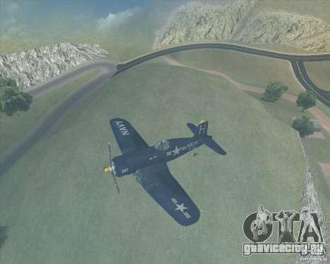 Aereo Corsair F4U1D для GTA San Andreas вид слева
