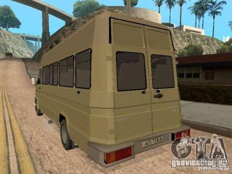 Iveco Turbo Daily для GTA San Andreas вид справа