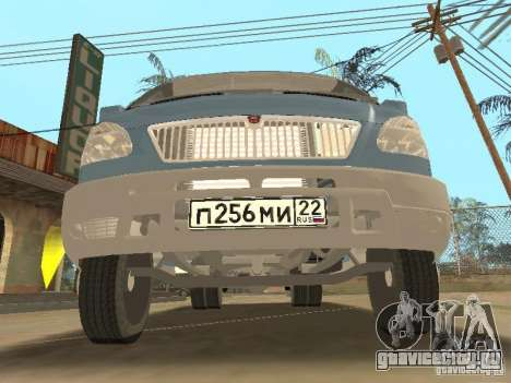 Газ 33023 Газель Фермер для GTA San Andreas вид сзади