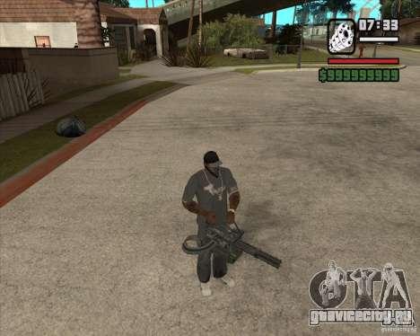 Hand Held M134 Minigun для GTA San Andreas четвёртый скриншот