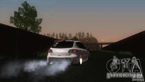 Mazda MazdaSpeed 3 для GTA San Andreas вид сзади слева