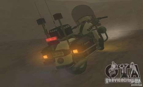 Полицейский мотоцикл из GTA TBoGT для GTA San Andreas вид сзади слева