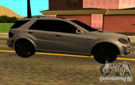 Mercedes-Benz ML63 AMG W165 Brabus для GTA San Andreas вид сзади